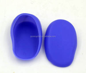 High quality Silica gel Ear Cover salon ear cap for hair dye