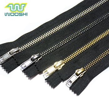 Wholesale Custom Zip High Quality 5 Shoes Zipper Close-End Copper Metal Heavy Duty Zipper For Boots