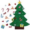 Wall Hanging Xmas Gifts 3ft DIY Felt Christmas Tree Set With Ornaments For Kids