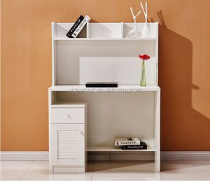 new design computer desk with storage cabinet and bookcase