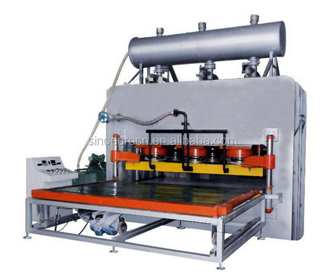 6*9ft short cycle laminating hot press machine for MDF board