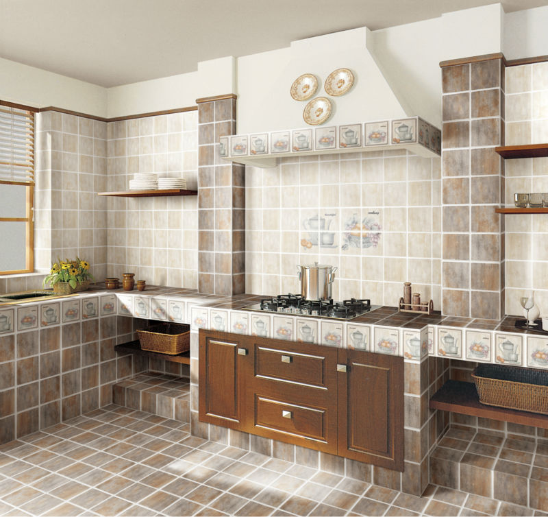 Kitchen grey color ceramic tiles manufacturer interior decoration