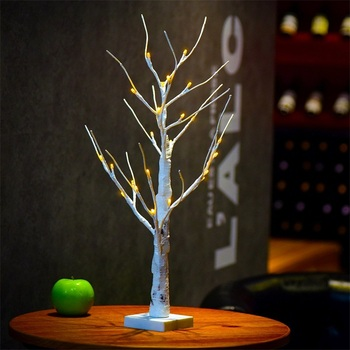 24 led Warm White Led Birch Tree