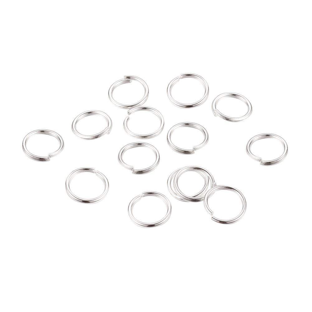 6//8x Housweety 1000PCs Eye Pins Findings Silver Tone 20.5mmx0.7mm