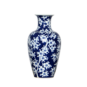 Chinese Qing dynansty antique reproduction ceramic plum blossom vase with various shape design