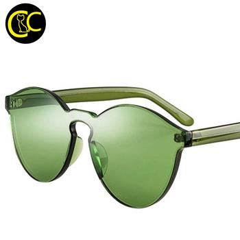 cd9bf8d83a 2016 Wholesale Rimless Sunglasses Women Brand Designer Cat Eye Shades Round Sun  glasses Eyewear Integrated Lens