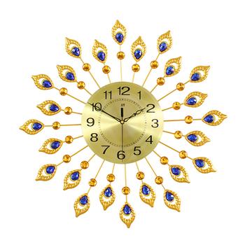 Gold Sun Shaped Wall Clock Decor Home Modern Metal Art, View wall ...
