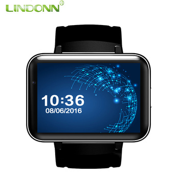 DM98 smart watch 2.2 inch 2016 OEM watch phone MTK6572 smart watch 3G battery 900mah largest memory 4gb android 4.4