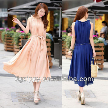 Korean fashion chiffon maxi dress women clothing online clothing store d3e3375e460