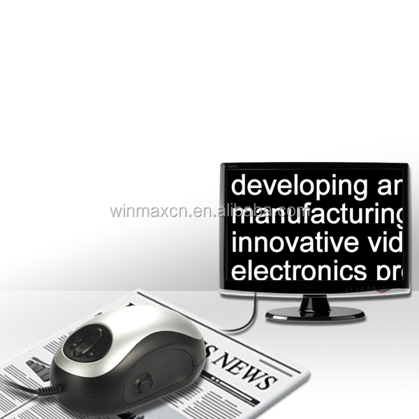 wired 25x TV Magnifier Electronic Reading Aids for visual of defect people