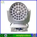 Longdi dmx led 36*15w 6in1 RGBWAP zoom moving head wash stage dj light