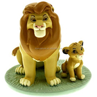 Animation cartoon life size The Lion King and baby statue with sitting