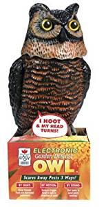 Easy Gardener Garden Defense Electronic Owl #8021