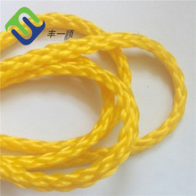 Supply 6mm pe 8 strand hollow braided ropes with high quality