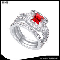 Micro Pave Setting Cluster Zircon engagement Rings square diamond ring