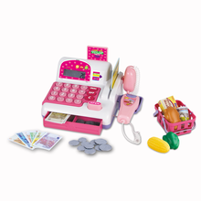 Christmas educational cashier play set for kids , electronic casher toy