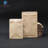 Biodegradable Kraft Paper Bag Food Packaging with Zipper