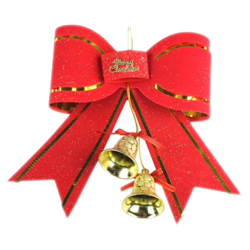 2017 Wholesale Merry <strong>Christmas</strong> Hang ornament <strong>Christmas</strong> Tree Decoration Bowknot Bells