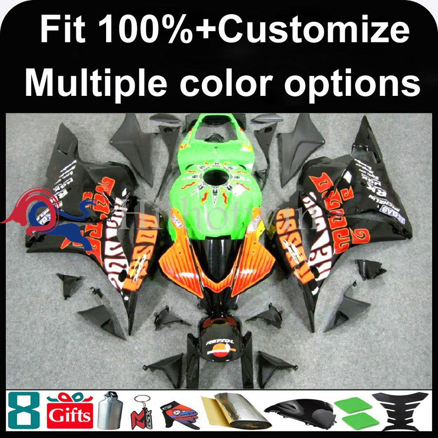 INJECTION MOLDING panels 2009 2010 2011 2012 CBR600 RR Fairings Sunflower green ABS Plastic Bodywork Set Fairing Fit For HONDA C
