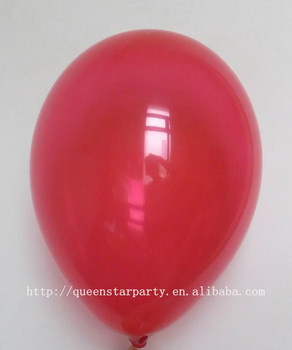 Latex Helium Balloon Small Flat Balloons Standard Pastel Color Red