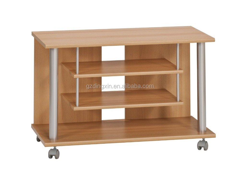 Lcd Stand Designs For Home : Wooden lcd tv stand design with wheels home office buy wooden