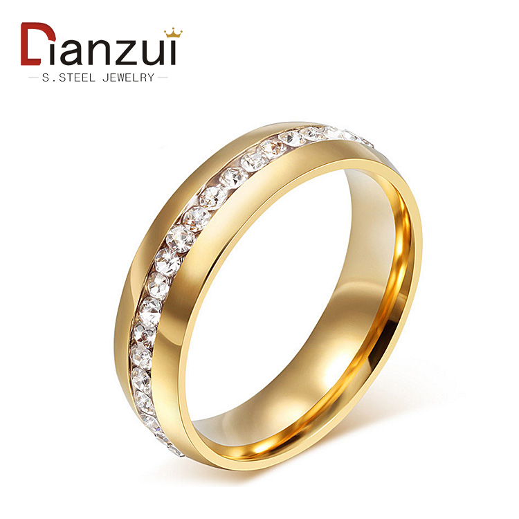 Jz1214 2 Gram Gold Ring For Women Crystal Eternity Ring Buy 2
