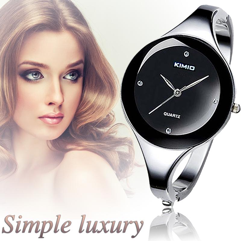 2015 новый топ марка женщин браслет часов платье дамы свободного покроя и мода Stailess стали круглый циферблат уникальный кварцевые часы