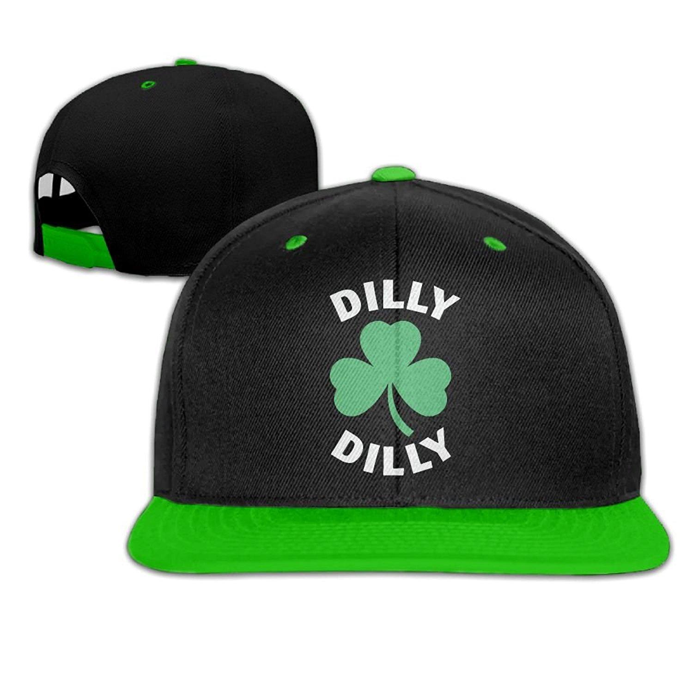 QING-CC Dilly Dilly Saint Patricks Day Women and Men Snapback Hip Hop Baseball Cap Hats