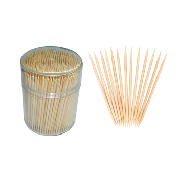 Custom printed logo bamboo personalized wooden toothpicks