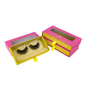 Plastic Eyelash Box Glitter 3D Real Mink Wholesale False Eyelashes