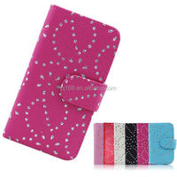 china supplier phone cases snow flower cover leather case for Blackberry Z30