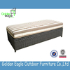 Outdoor furniture PE rattan storage box for cushion blanket storage boxes