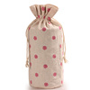 Eco friendly breathable factory direct supply round bottom drawstring jute bag for cereals storage