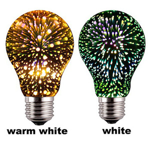 Decorative 4W Color Led Firework Light Bulb E27 ST64 A60 G95 3D Led Illusion Lamp Bulb