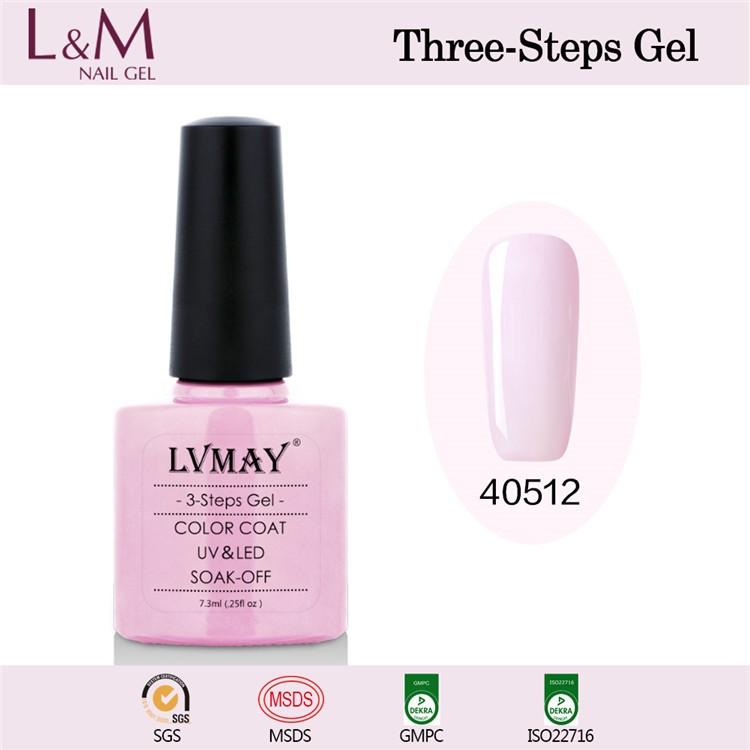L&M China LVMAY brand soak off beauty choices colored nail art paint uv gel polish