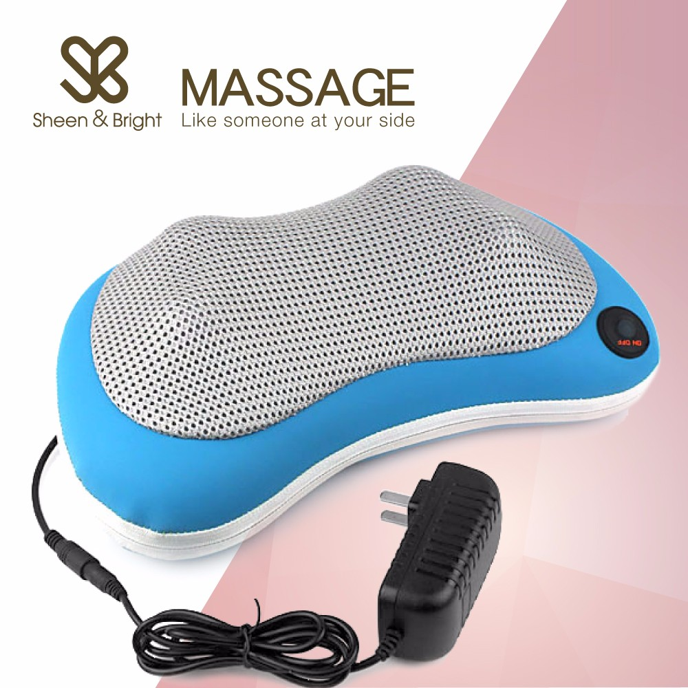 <strong>Shoulder</strong> Kneading Back Shiatsu Cushion Infrared Heating Massage Neck Pillow