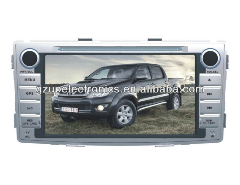 6.95 inch Double Din Car DVD Player for Hilux 2012 With GPS and Bluetooth