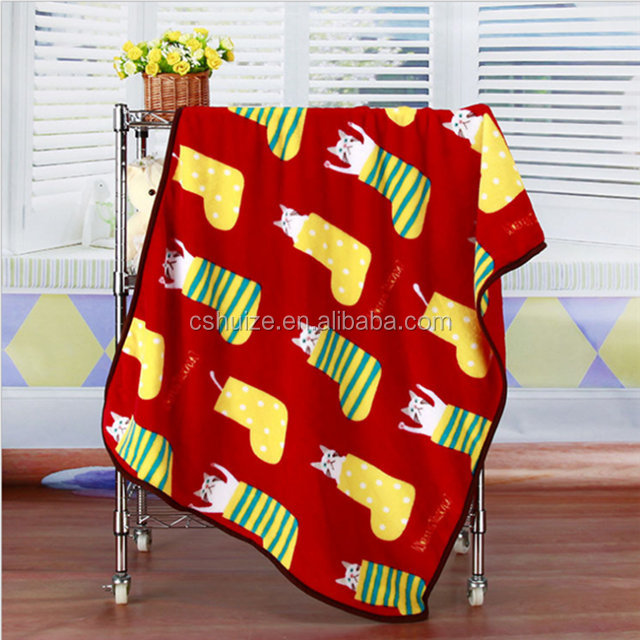Christmas children fleece blanket baby customized