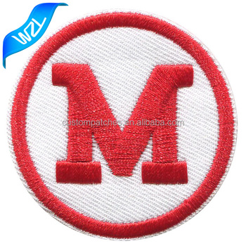 Cheap china price letter numbers blank patch embroidery for Embroidery prices per letter