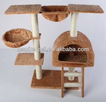 35h Brown Cat Tree Condo House Scratcher Pet Furniture Bed