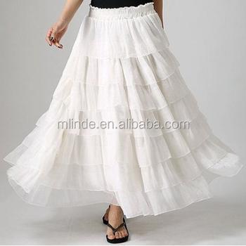 a1a0cd37a Women Latest Long Skirt Design,Elegant Pleated Maxi Skirt Models,Chiffon  Maxi Ruffle Tiered