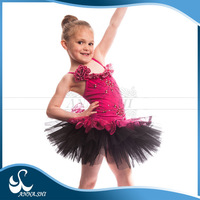 2016 Anna Shi Fitting Beautiful rose red and black tutu dance customes for kids
