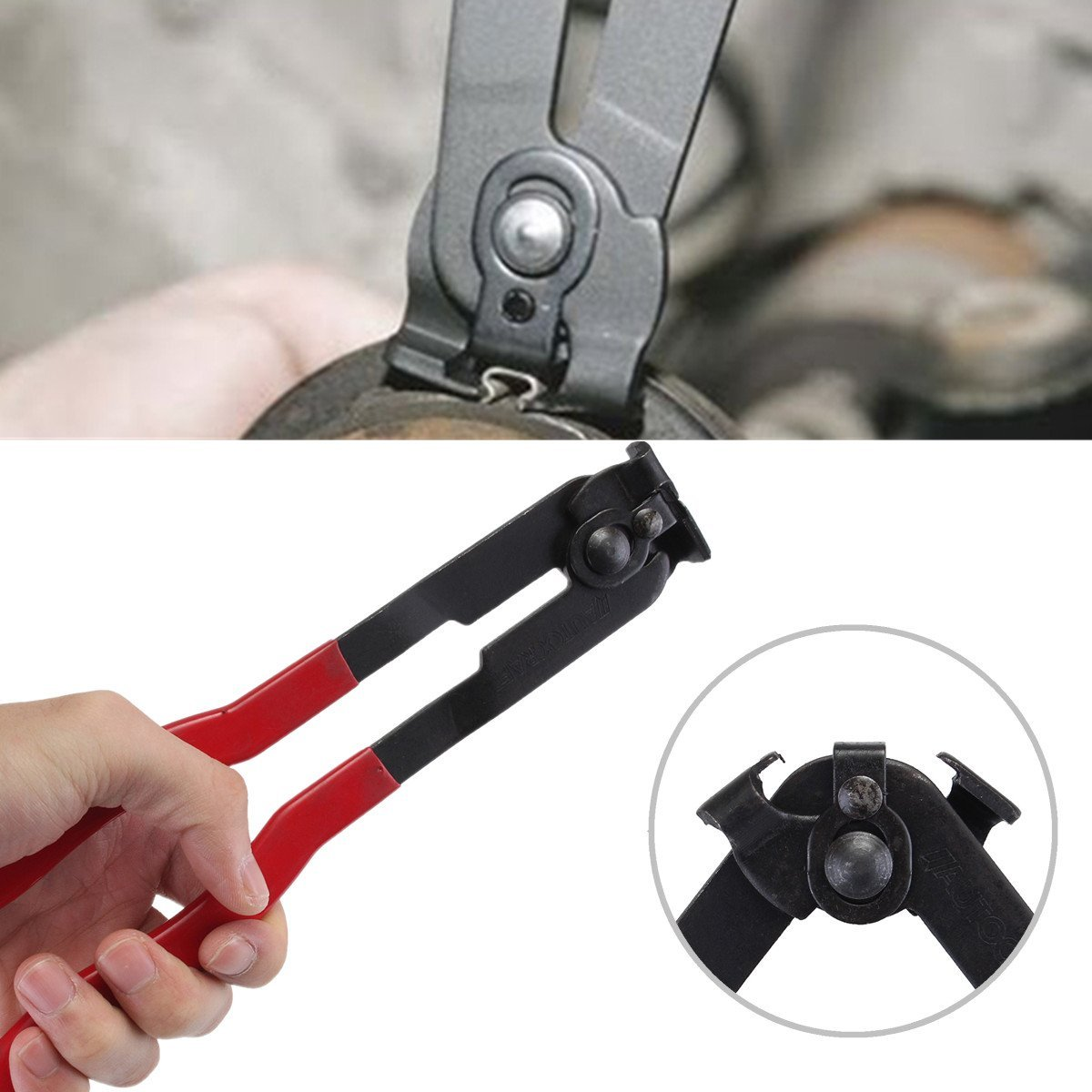 Hitommy Ear Type CV Joint Boot Clamp Plier Installer Tool For Fuel & Coolant Hose Pipe