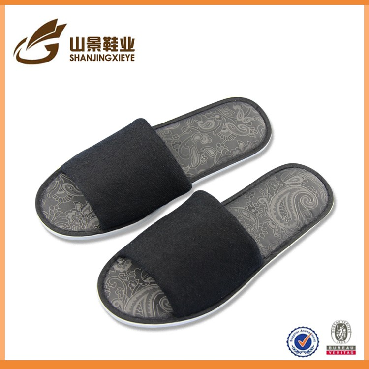 wholes cheap eva home slipper for men and women with terry