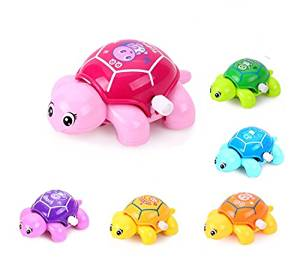 ZUINIUBI Small Clockwork toys 6pcs cute cartoon Turtle Baby learning to crawl toys child baby early education learning toys for boys girls 0-1 year old baby