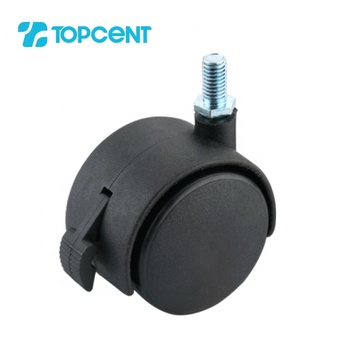 TOPCENT plastic furniture small twin wheels locking casters for office chair