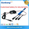 small rechargeable 9v lithium battery 1200mah for strip light