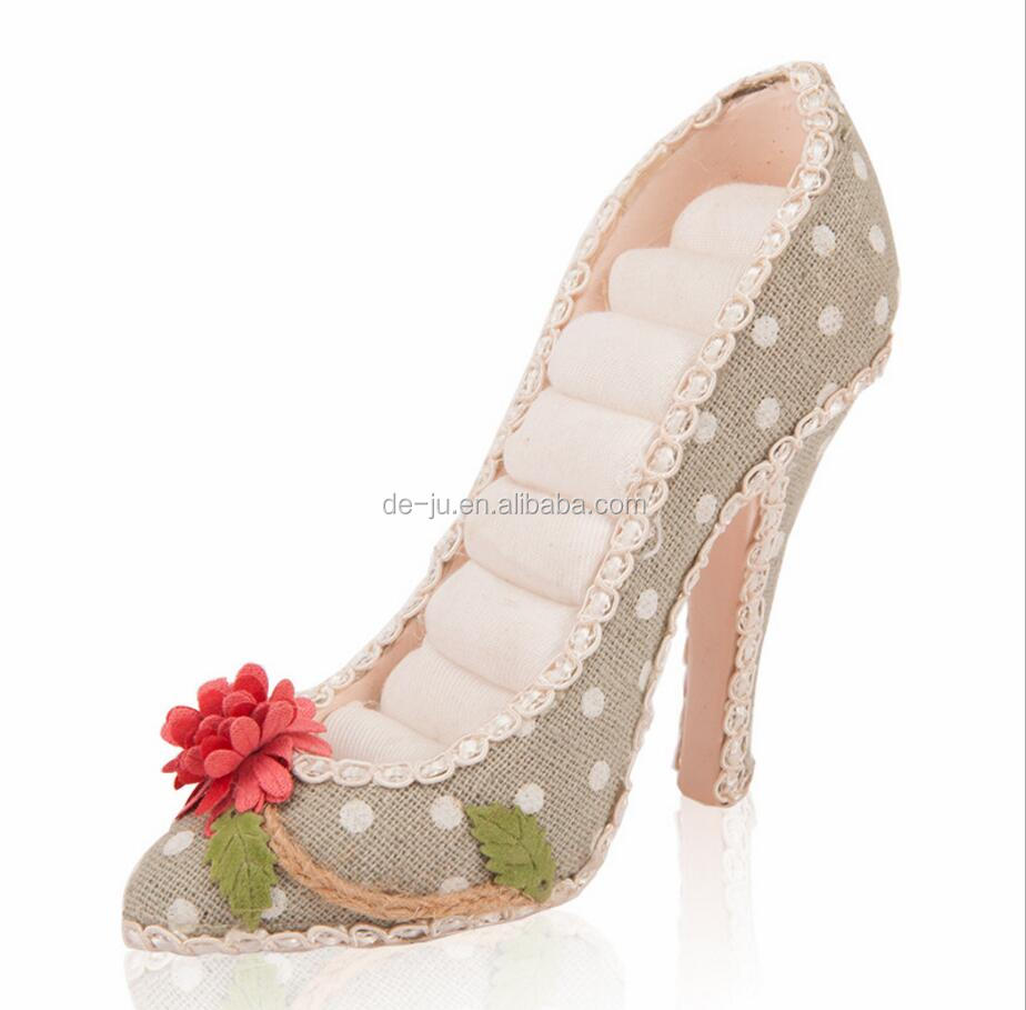 Lady Heels Shoe Shape Ring Holder Jewelry