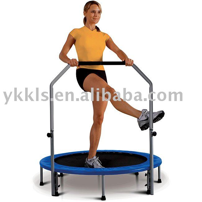 Folding trampoline in 48-inch Rebounder with Stabilizer Bar