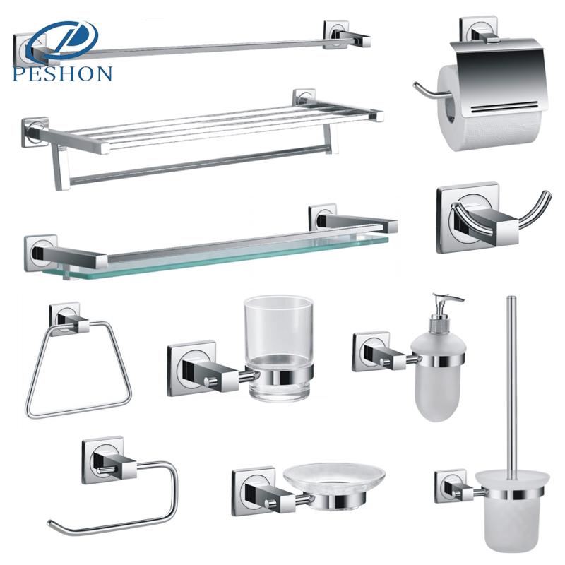 Best selling hotel brass chrome wall mount bathroom fittings set